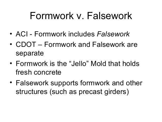 Formwork Design Vs Falsework Design Key Differences