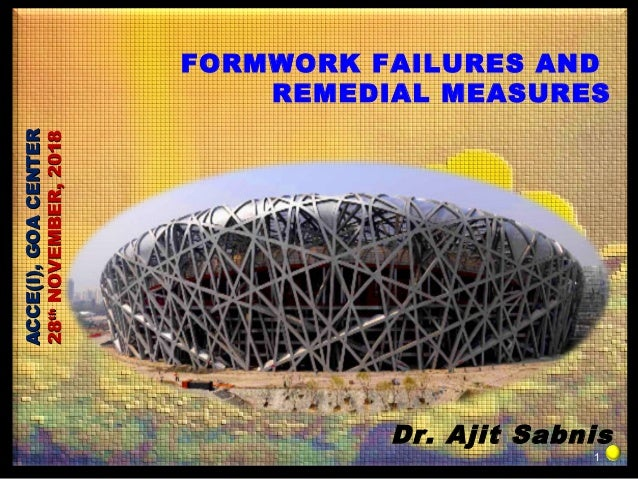 Formwork failures and remedial measures