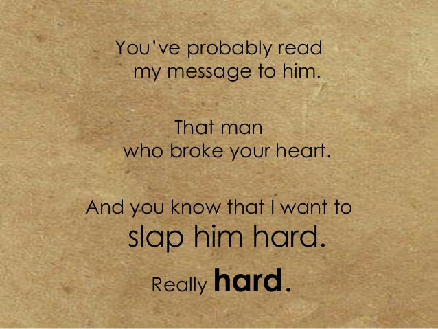 Message To A Guy Who Broke Your Heart