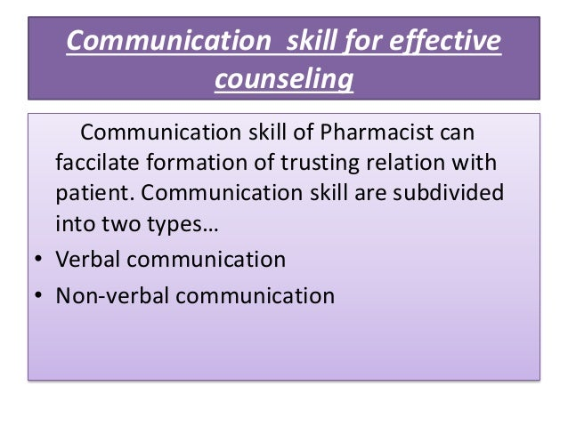 type of communication skills