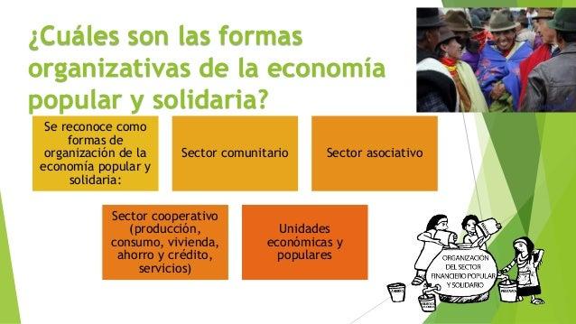 ¿Cuáles son las formas organizativas de la economía popular y solidaria? Se reconoce como formas de organización de la eco...