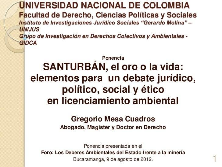 UNIVERSIDAD NACIONAL DE COLOMBIAFacultad de Derecho, Ciencias Políticas y SocialesInstituto de Investigaciones Jurídico So...