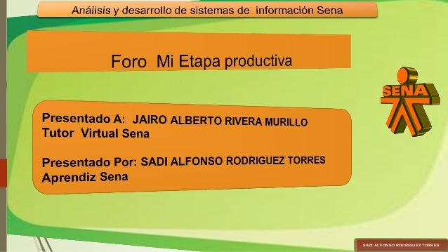 SADI ALFONSO RODRIGUEZ TORRESSADI ALFONSO RODRIGUEZ TORRES