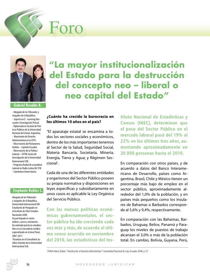 """Foro                                     """"La mayor institucionalización                                     del Estado par..."""