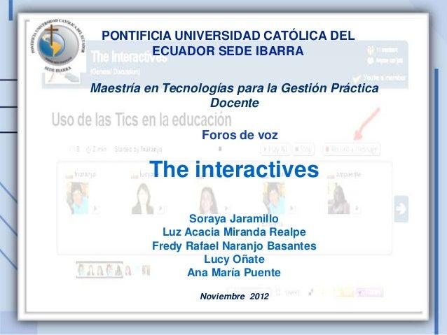 PONTIFICIA UNIVERSIDAD CATÓLICA DEL        ECUADOR SEDE IBARRAMaestría en Tecnologías para la Gestión Práctica            ...