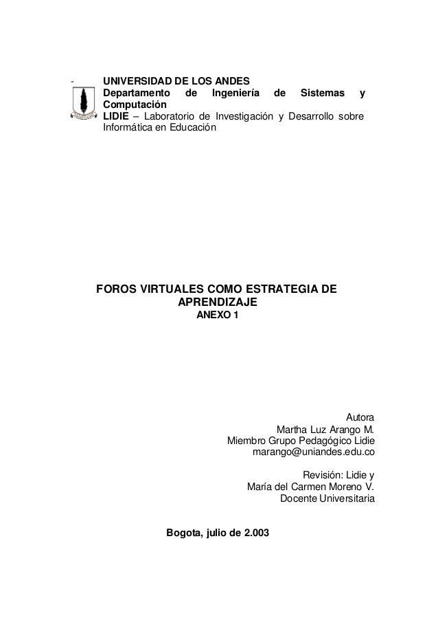 - UNIVERSIDAD DE LOS ANDESDepartamento de Ingeniería de Sistemas yComputaciónLIDIE – Laboratorio de Investigación y Desarr...