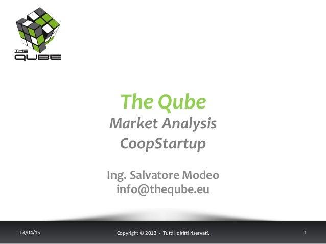 The  Qube   Market  Analysis   CoopStartup   14/04/15   Copyright  ©  2013    -‐    Tu6  i  d...