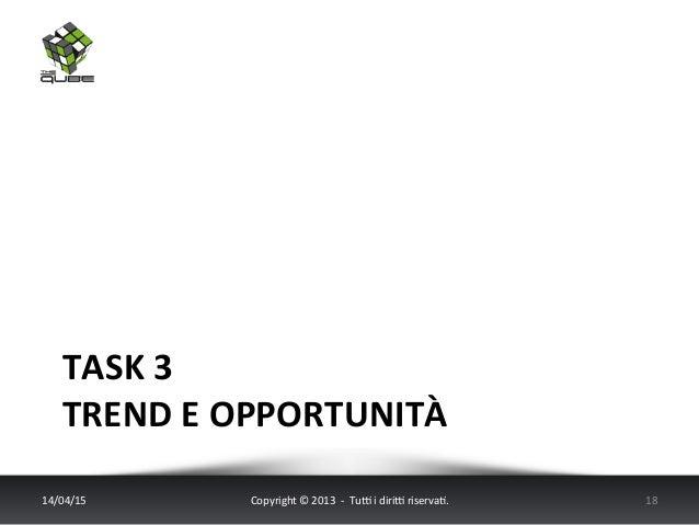 TASK  3   TREND  E  OPPORTUNITÀ   14/04/15   Copyright  ©  2013    -‐    Tu6  i  diri6  ris...