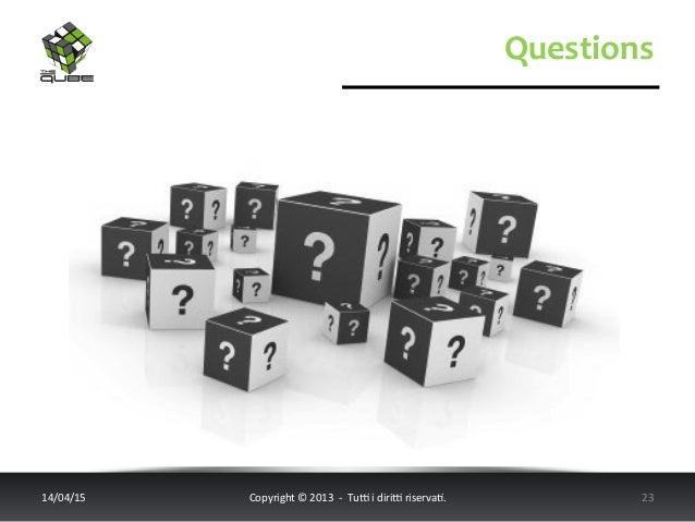 Questions   14/04/15   Copyright  ©  2013    -‐    Tu6  i  diri6  riserva<.       23