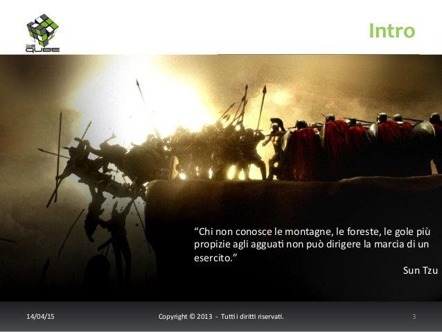 """Intro   14/04/15   Copyright  ©  2013    -‐    Tu6  i  diri6  riserva<.       3   """"Chi  n..."""