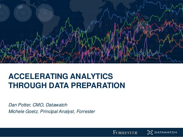 ACCELERATING ANALYTICS THROUGH DATA PREPARATION Dan Potter, CMO, Datawatch Michele Goetz, Principal Analyst, Forrester