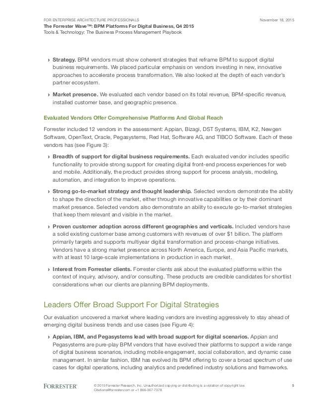 Forrester Wave | BPM Platforms for digital business 2015