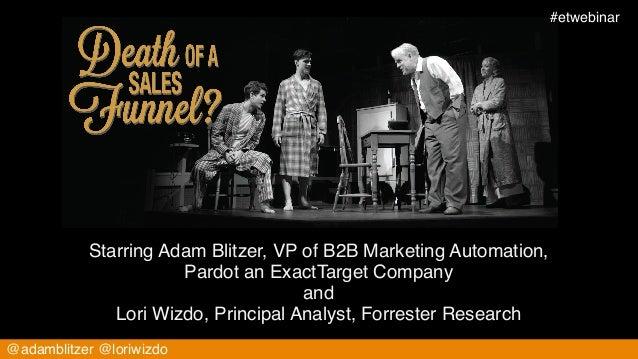 #etwebinar!                                                   consideration           Starring Adam Blitzer, VP of B2B Mar...
