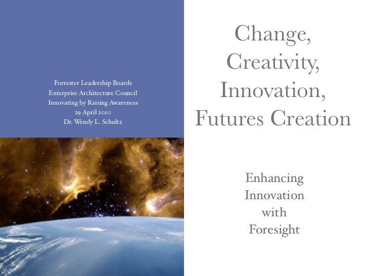 Change,                                      Creativity,                                     Innovation,   Forrester Leade...