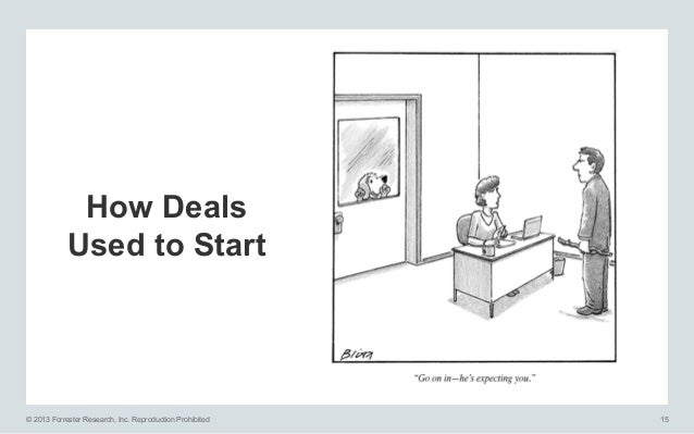 How Deals Used to Start  © 2013 Forrester Research, Inc. Reproduction Prohibited  15