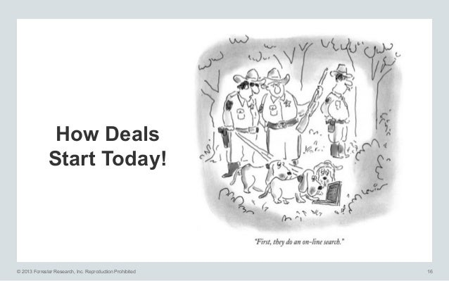 How Deals Start Today!  © 2013 Forrester Research, Inc. Reproduction Prohibited  16