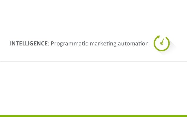 Four  Components  of  Value      INTELLIGENCE:  Programma3c  marke3ng  automa3on       Once  a  ca...