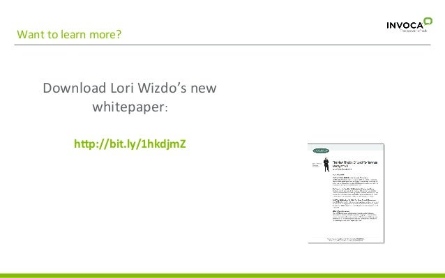 Want  to  learn  more?    Download  Lori  Wizdo's  new   whitepaper:      The  New  Physics  of...