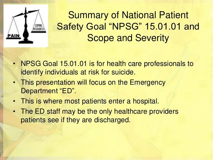 patient safety standards, materials and systems guidelines |Patient Safety Standards Jcaho Policies