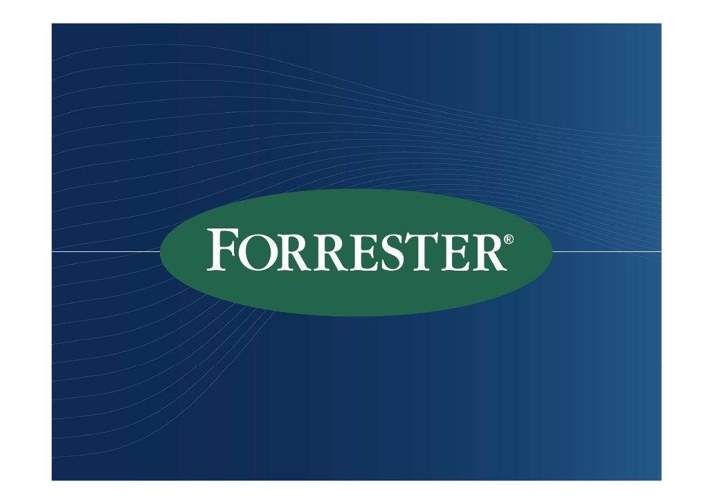 Valueshore Euan Davis Principle Analyst Forrester Research September, 2009