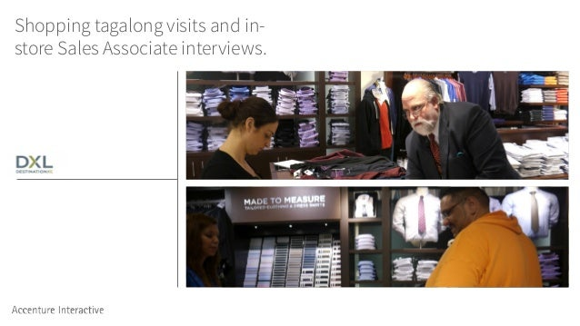 Shopping tagalong visits and in- store Sales Associate interviews.