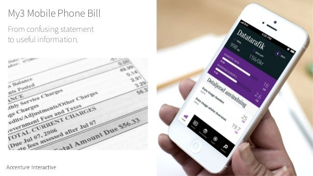 My3 Mobile Phone Bill From confusing statement to useful information.