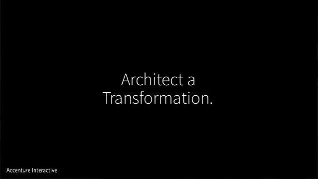 Architect a Transformation.