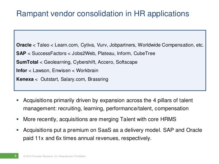 The Forrester Wave™: Human Resource Management Systems, Q1 2012 Webin…