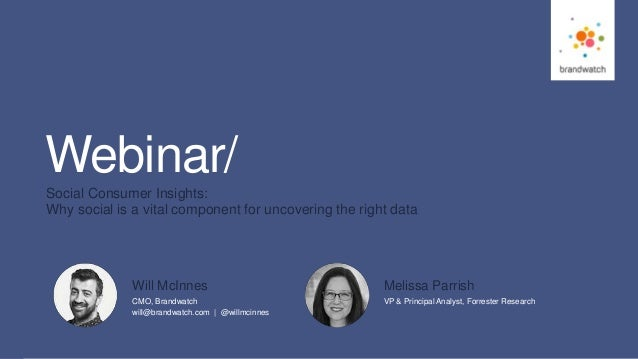 1 #brandwatchtips © 2016 Brandwatch.com Webinar/ Social Consumer Insights: Why social is a vital component for uncovering ...