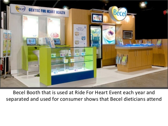 Becel Booth that is used at Ride For Heart Event each year and separated and used for consumer shows that Becel dieticians...