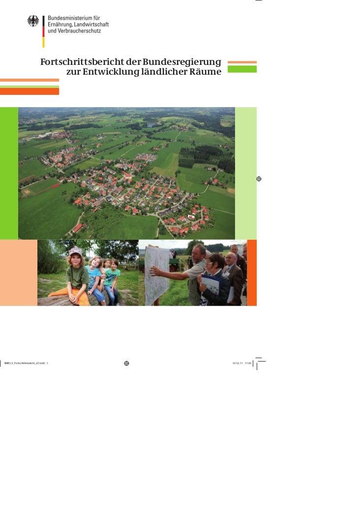 Fortschrittsbericht der Bundesregierung      zur Entwicklung ländlicher Räume