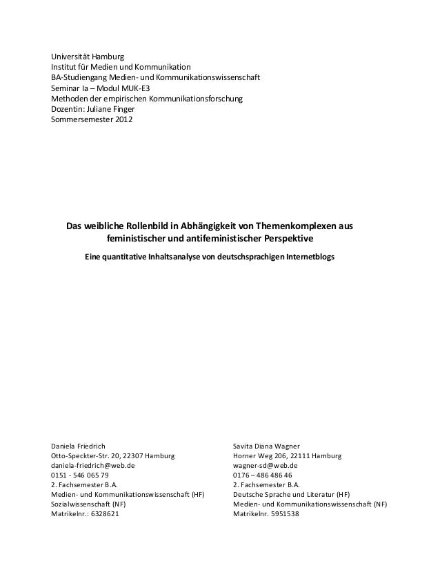 Universität HamburgInstitut für Medien und KommunikationBA-Studiengang Medien- und KommunikationswissenschaftSeminar Ia – ...
