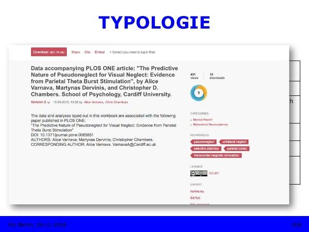 "TYPOLOGIE • Figshare Betreiber: Digital Science (Macmillan Publishers) Disziplin: Multidisziplinär Mission: ""figshare is ..."