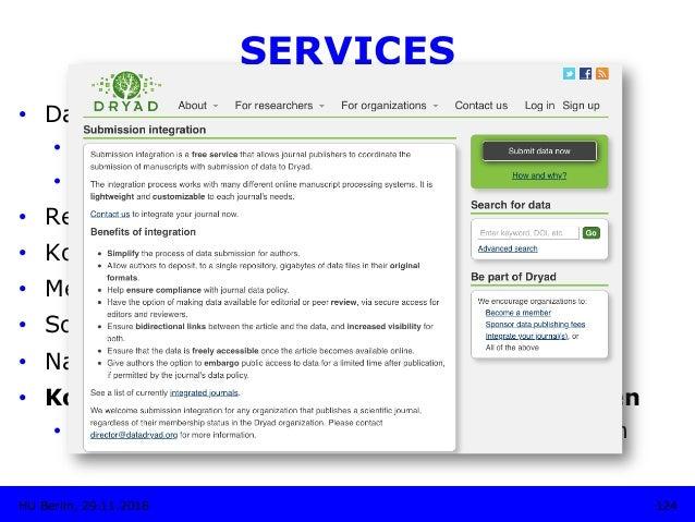 SERVICES • Daten-Download • Import- und Export der Metadaten • Zitationsvorschläge • Referenz zu Text-Publikationen •...