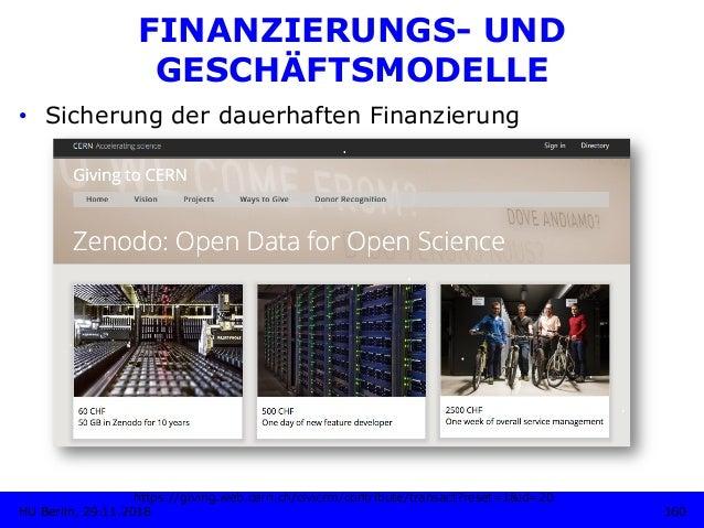 FINANZIERUNGS- UND GESCHÄFTSMODELLE • Sicherung der dauerhaften Finanzierung https://giving.web.cern.ch/civicrm/contribut...