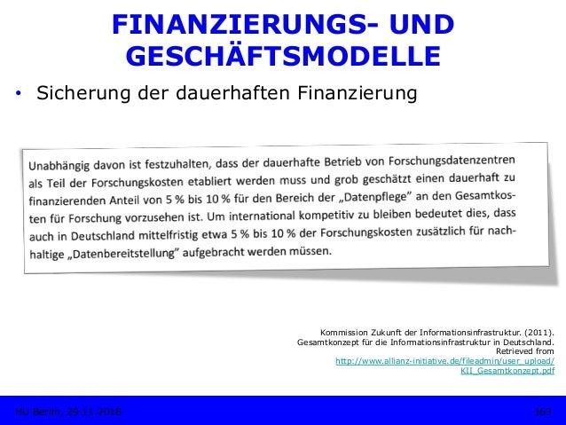 FINANZIERUNGS- UND GESCHÄFTSMODELLE • Sicherung der dauerhaften Finanzierung Kommission Zukunft der Informationsinfrastru...