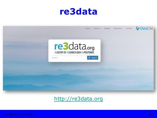re3data http://re3data.org HU Berlin, 29.11.2018 167