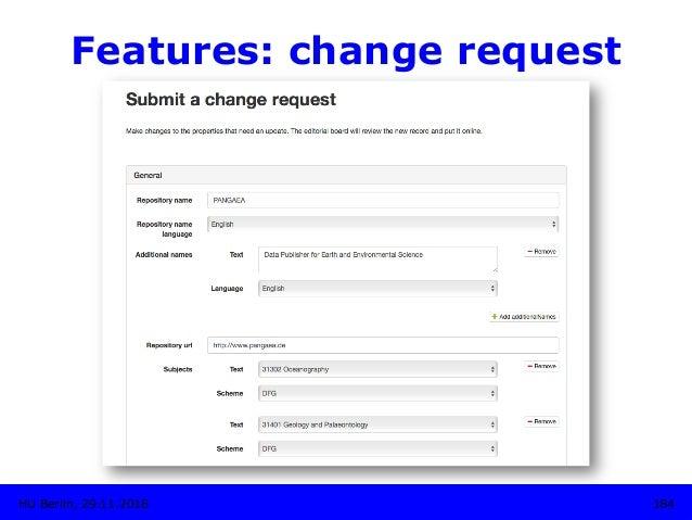 Features: change request HU Berlin, 29.11.2018 184
