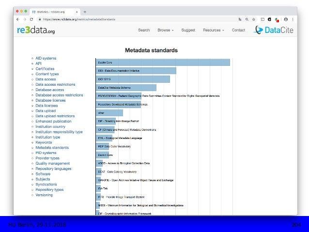 Features: metrics 204HU Berlin, 29.11.2018