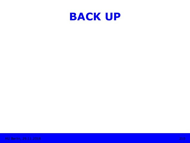 BACK UP 210HU Berlin, 29.11.2018