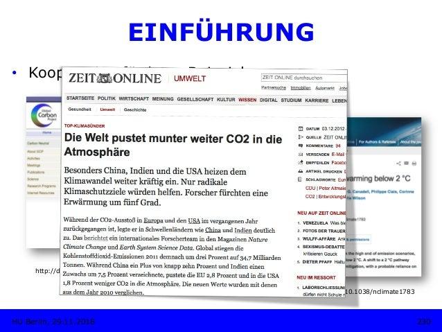 http://dx.doi.org/10.3334/CDIAC/GCP_V2012 230HU Berlin, 29.11.2018 EINFÜHRUNG • Kooperation fördern: Beispiel http://dx.d...