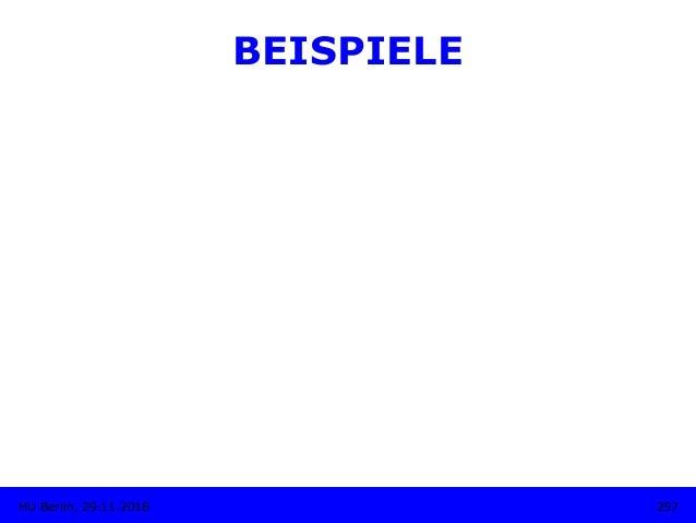BEISPIELE 257HU Berlin, 29.11.2018