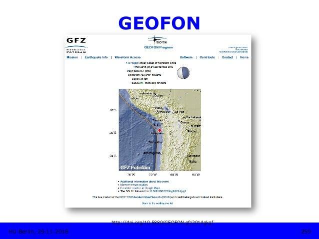 GEOFON http://doi.org/10.5880/GEOFON.gfz2014gkgf 259HU Berlin, 29.11.2018