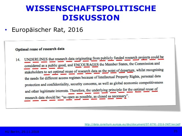 • Europäischer Rat, 2016 HU Berlin, 29.11.2018 35 http://data.consilium.europa.eu/doc/document/ST-8791-2016-INIT/en/pdf W...
