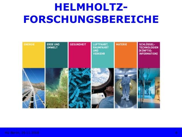 HELMHOLTZ- FORSCHUNGSBEREICHE 8HU Berlin, 29.11.2018