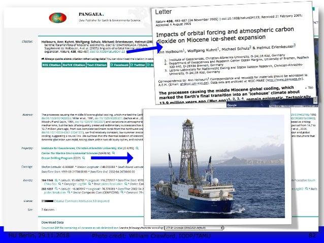 TYPOLOGIE • PANGAEA Betreiber: Alfred-Wegener-Institut (AWI) und MARUM – Zentrum für Marine Umweltwissenschaften der Univ...