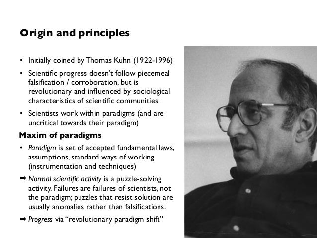thomas kuhn contributions to philosophy of science