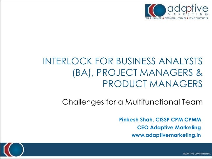 Interlock for Business Analysts (BA), Project Managers & Product Managers <br />Challenges for a Multifunctional Team<br /...