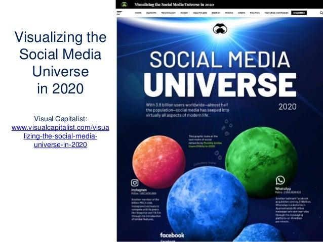 Visualizing the Social Media Universe in 2020 Visual Capitalist: www.visualcapitalist.com/visua lizing-the-social-media- u...