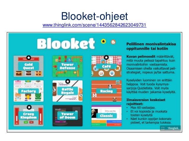 Blooket-ohjeet www.thinglink.com/scene/1443562842623049731